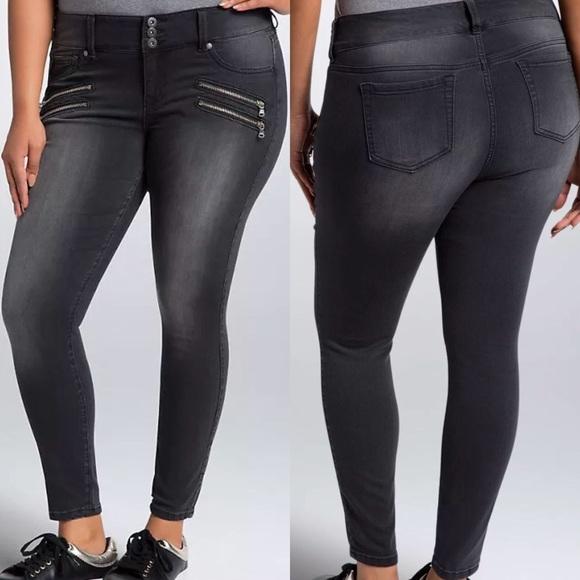 0dd835e33696b torrid Jeans   Black Wash Zipper Jegging Skinny   Poshmark